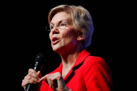 Democratic presidential candidate Sen. Elizabeth Warren, D-Mass. (AP Photo/John Locher)