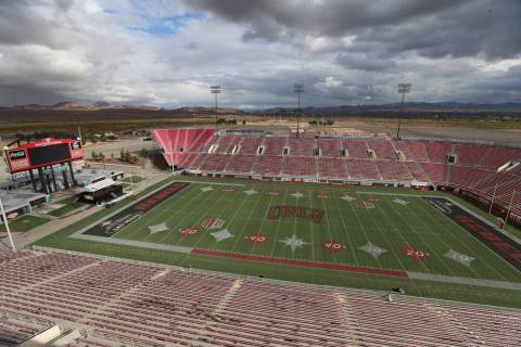 Sam Boyd Stadium in Las Vegas, Thursday, Nov. 21, 2019. (Erik Verduzco/Las Vegas Review-Journal ...