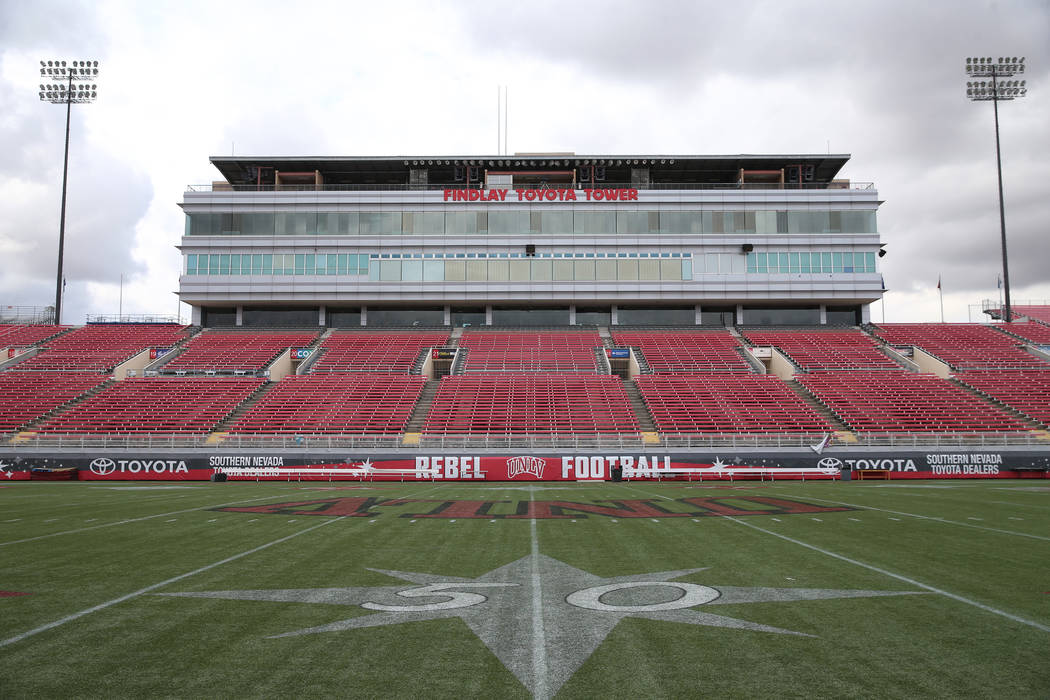 Sam Boyd Stadium in Las Vegas, Thursday, Nov. 21, 2019. (Erik Verduzco/Las Vegas Review-Journal ...