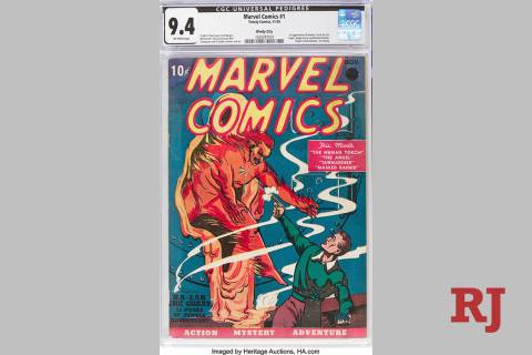 This Oct. 8, 2019 image provided by Heritage Auctions shows a rare near mint condition copy of ...