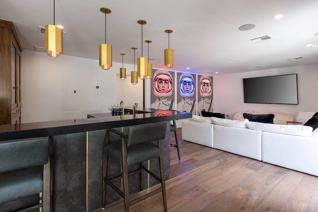 The main house features a bar with art. (Simply Vegas)