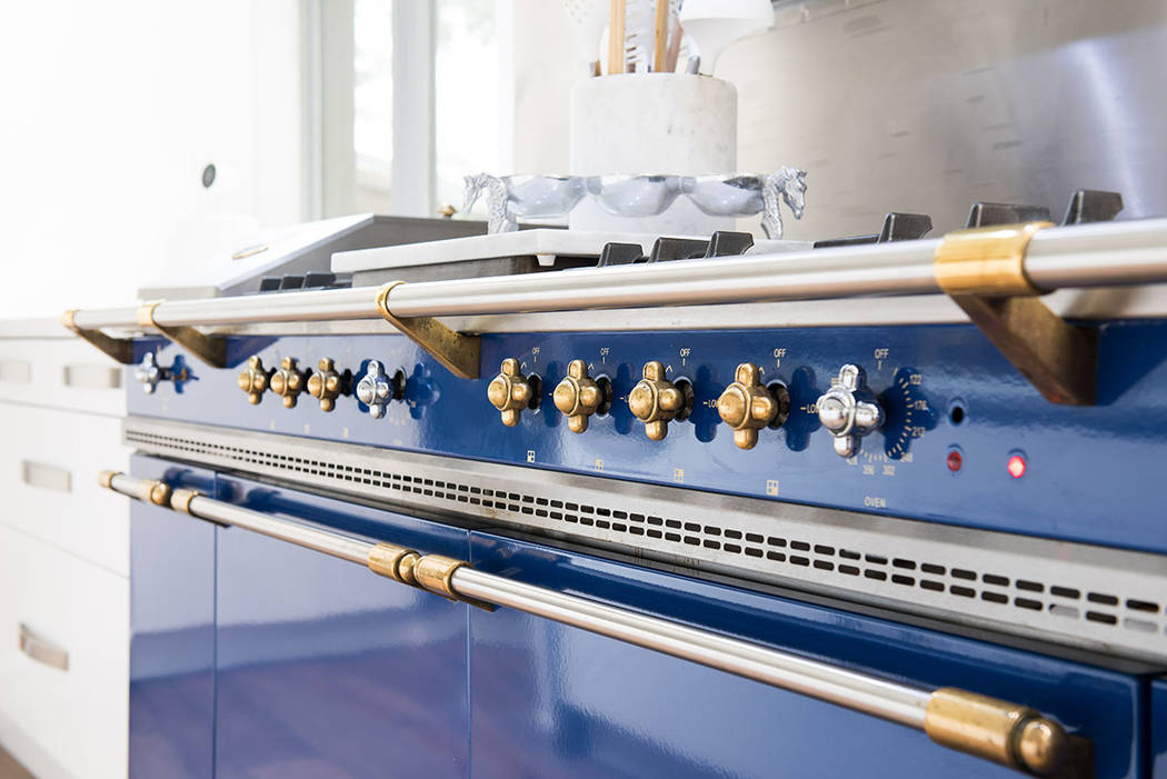 The kitchen's professional-grade appliances include a rare imported blue LaCanche French range. ...