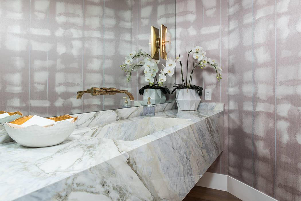 The baths feature fine details. (Simply Vegas)