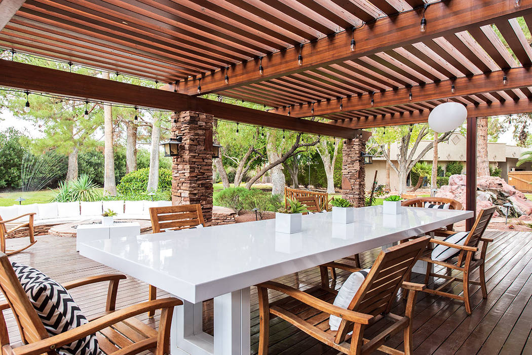 Outside is a covered patio. (Simply Vegas)