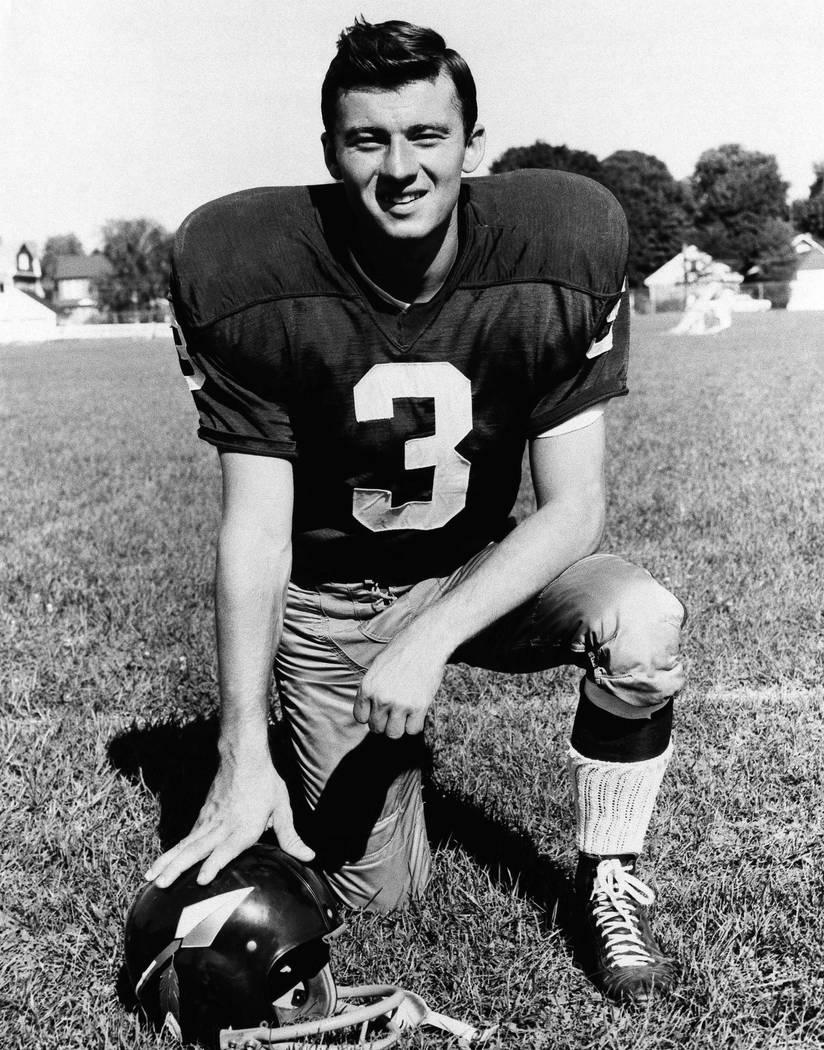 Football player Charlie Gogolak of the Washington Redskins, 1966. (AP Photo).