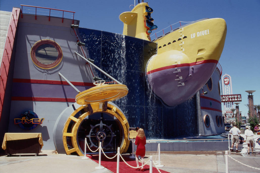 This is an exterior view during a media preview of the restaurant Dive! June 11, 1995, in front ...