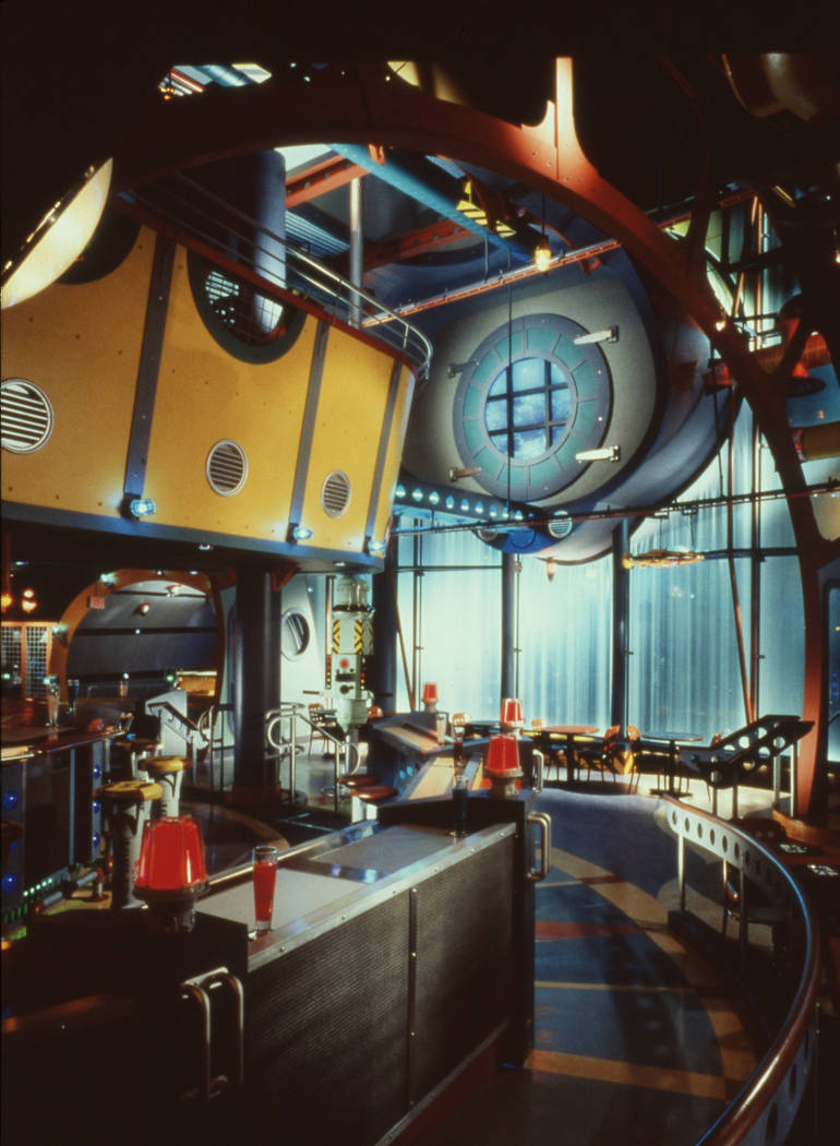 The interior of the restaurant Dive! is seen September 17, 1995, in front of the Fashion Show M ...