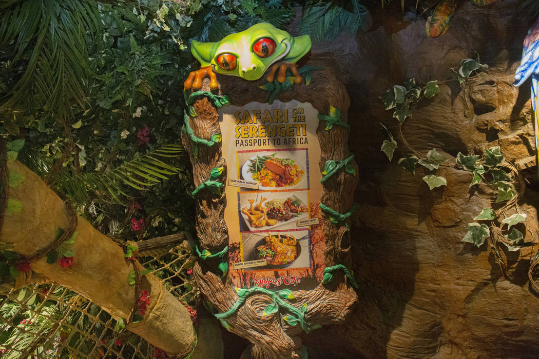 The Rainforest Cafe in the Miracle Mile Shops on the Las Vegas Strip, Friday Nov. 15, 2019. (El ...