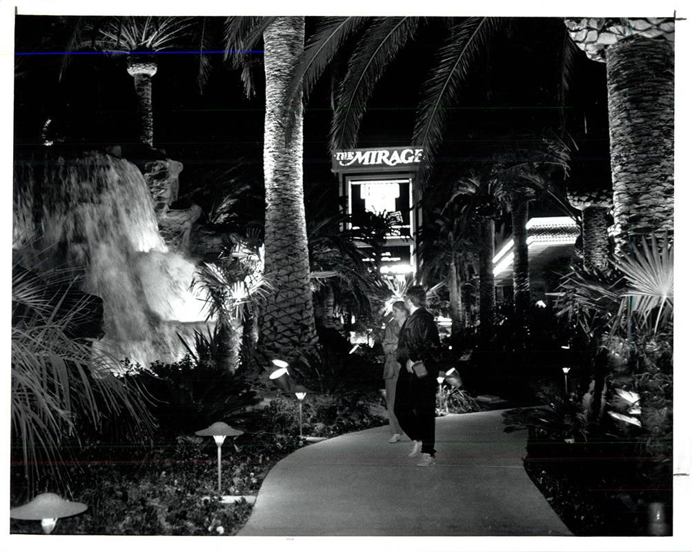 The Mirage on opening night on November 22, 1989. (Wayne Kodey / Las Vegas Review-Journal)