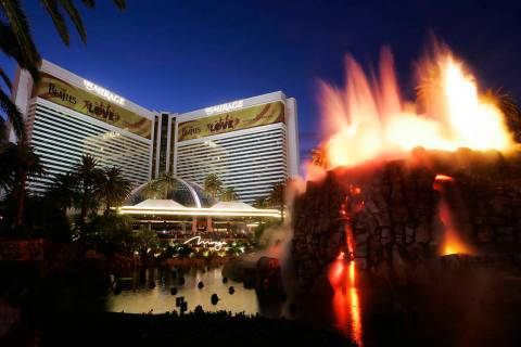 The MIrage is shown on the Las Vegas Strip, Nov. 18, 2009. The Mirage, once considered the Stri ...