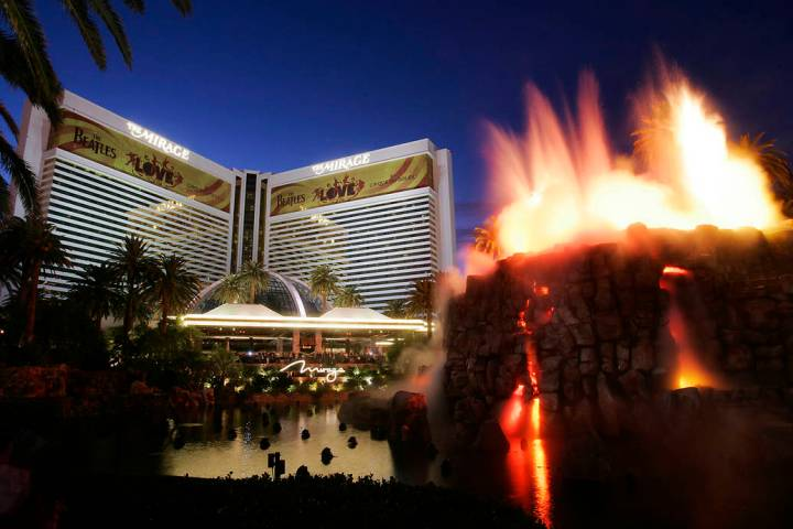 The MIrage is shown on the Las Vegas Strip on Wednesday night, Nov. 18, 2009. The Mirage, once ...