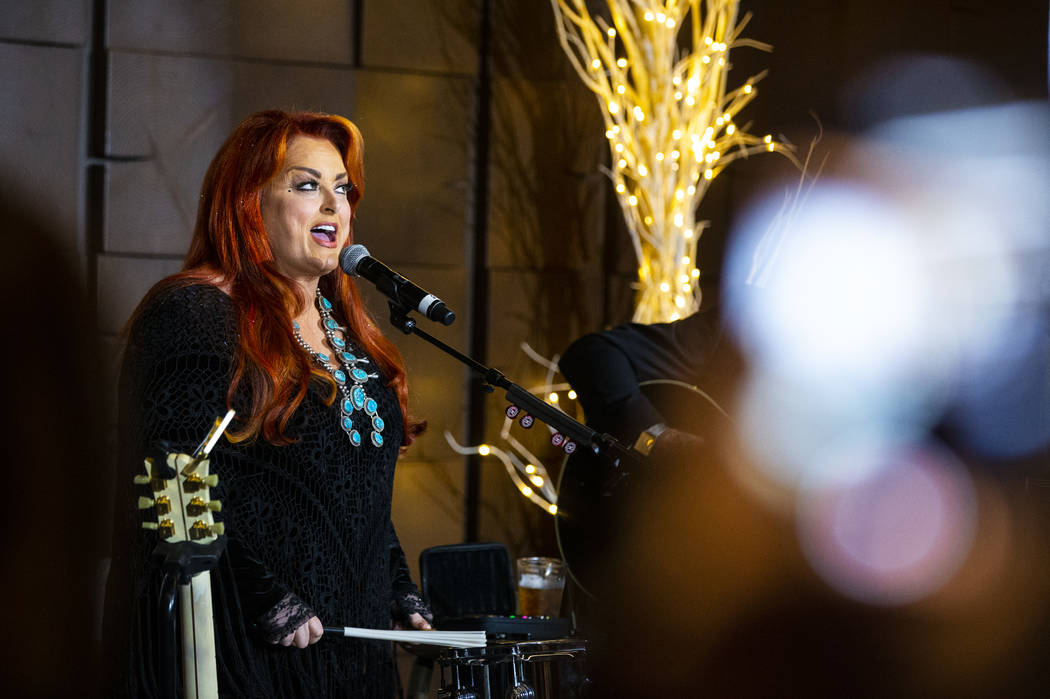 Singer-songwriter Wynonna Judd performs during a HOPE for Prisoners fundraising event at the Pl ...