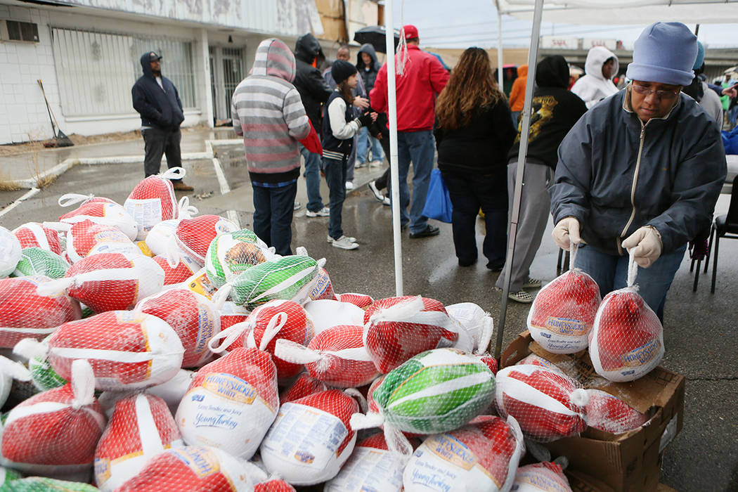 The Las Vegas Rescue Mission is in need of hundreds of donations of turkeys for both families i ...