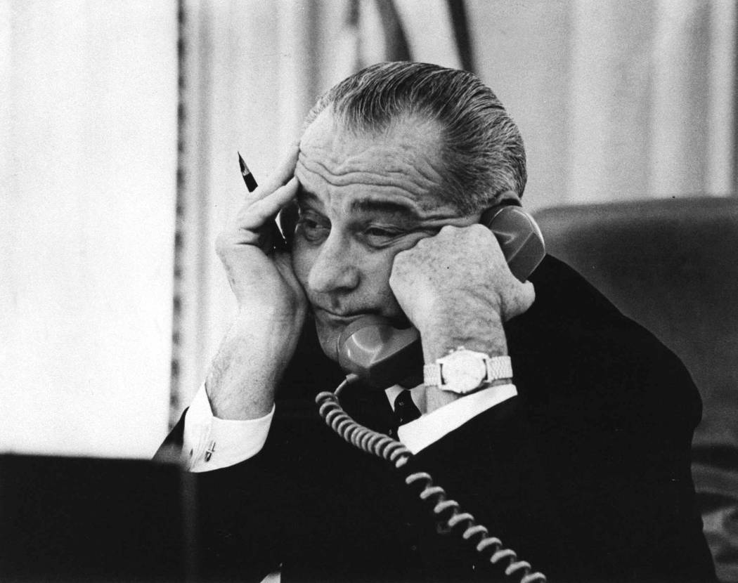 This photo of President Lyndon B. Johnson was taken just three days after the assassination of ...