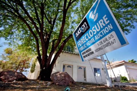 A foreclosed home in Las Vegas, June 18, 2011. (Las Vegas Review-Journal)
