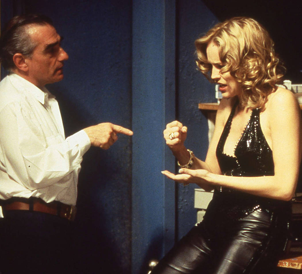 "Martin Scorsese confers with star Sharon Stone on the set of ""Casino."" (Universal Stu ..."