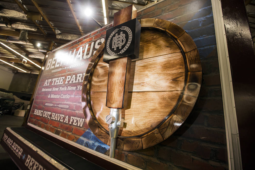 A custom 3D build-out mobile billboard for Beerhaus parks in a warehouse at Kre8 Media Outdoor ...