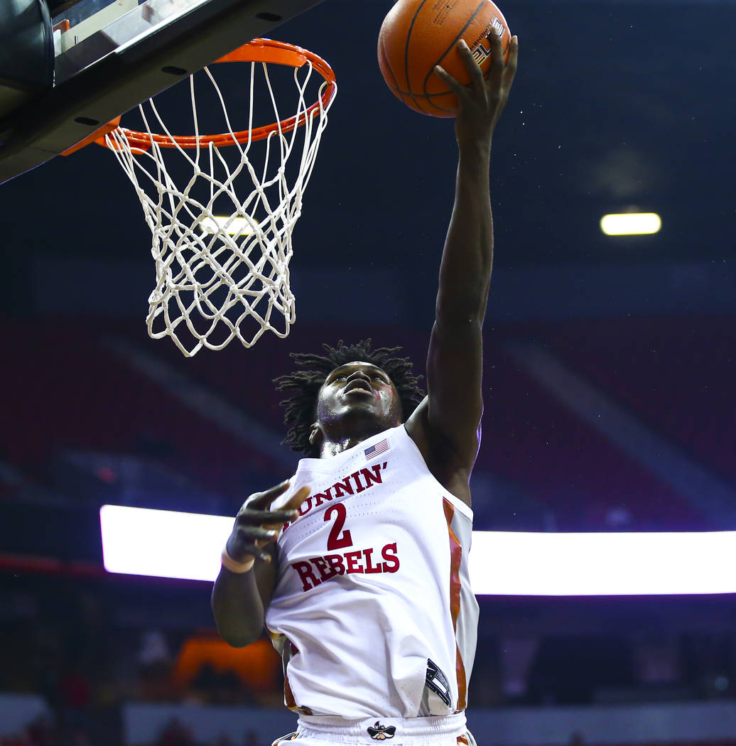 UNLV's Donnie Tillman (2) looks for a basket against Southern Methodist during the first half o ...