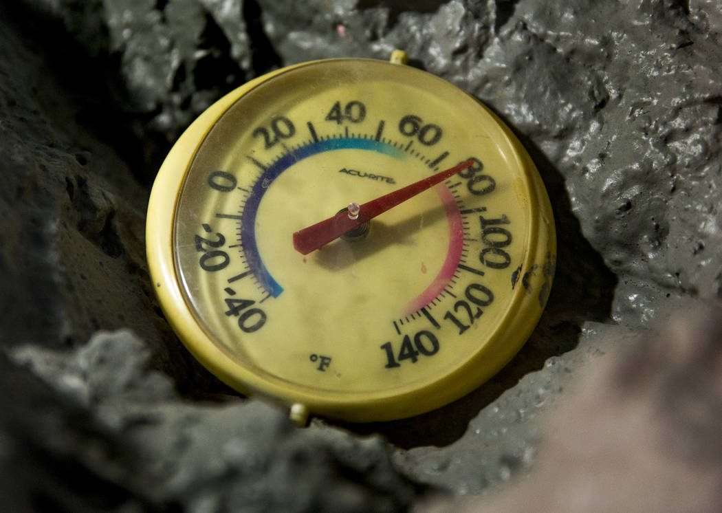 The temperature in Richard Roman's mine home ranges between 70-85 degrees tucked in the hillsid ...