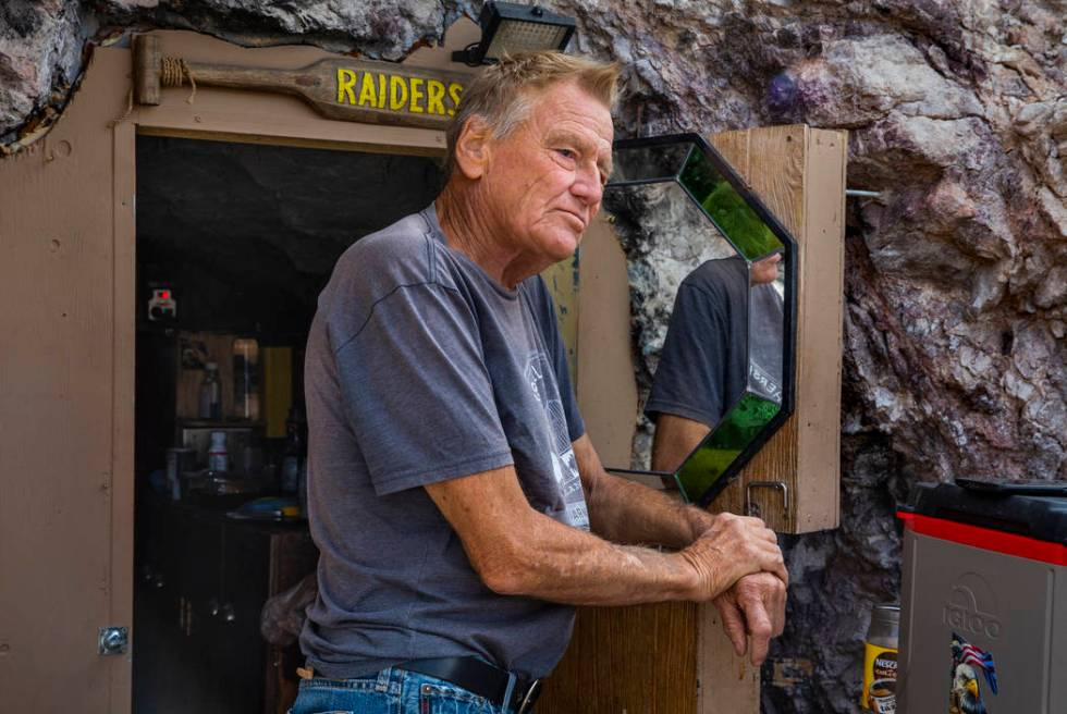 Richard Roman for seven years now has lived in a former mine in the hillside above the River Mo ...