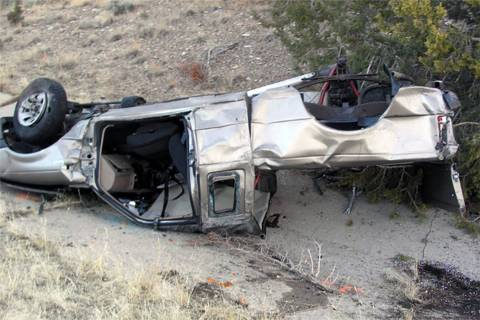 Candice Young of Las Vegas and two others were killed in a single-car wreck on Interstate 15 ne ...
