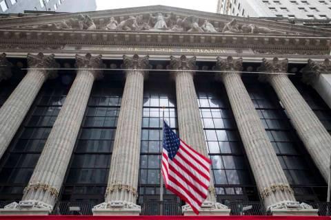 In a Nov. 20, 2018, file photo, a U.S. flag flies outside New York Stock Exchange. Stocks fel ...