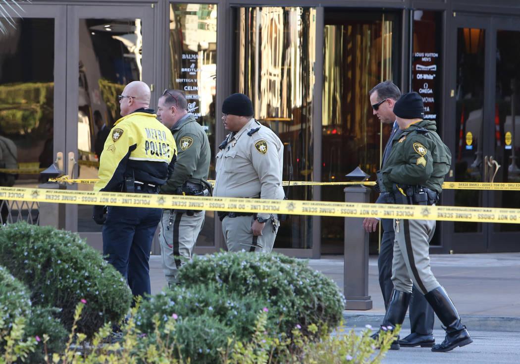 Las Vegas police are investigating a hit-and-run crash involving a pedestrian on the Las Vegas ...