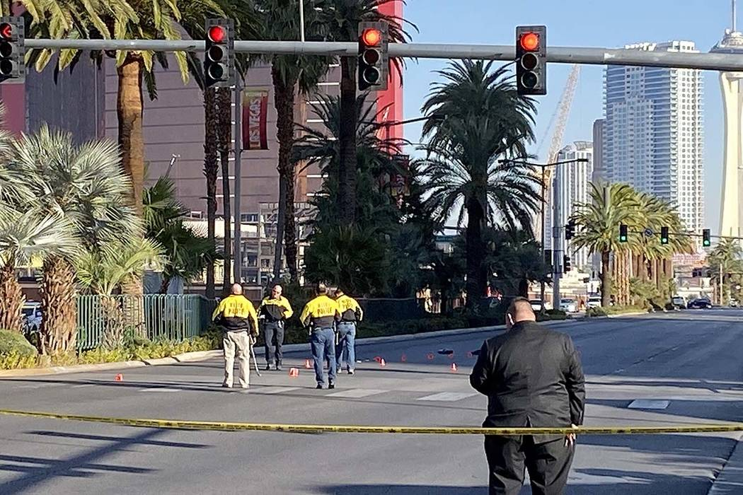 Las Vegas police investigate a hit-and-run accident that involved a pedestrian about 6:15 a.m. ...