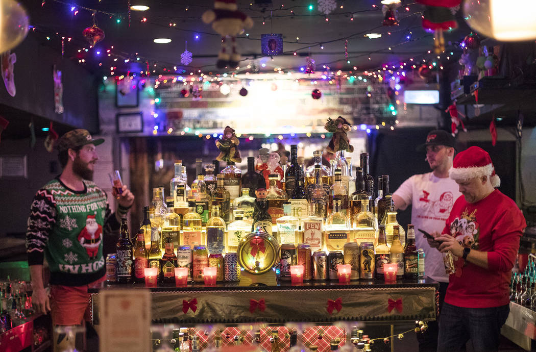 The Sand Dollar Lounge in Las Vegas, Monday, Nov. 25, 2019. The bar is hosting Miracle on Sprin ...