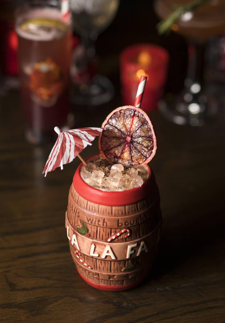 The Christmas Carol Barrel made of Blanco Tequila, coffee liquor, cocoa nib-infused orange and ...