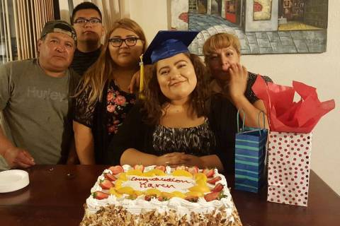 The Martinez family, from left to right: Jesus Martinez-Maron, Jesus Martinez, Jennifer Martine ...