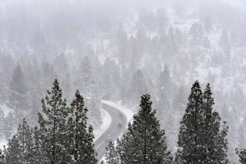 Last week, a good dusting of snow along the Mt. Rose Highway near Reno slowed traffic. This wee ...