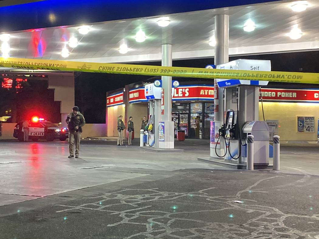 Police responded to a robbery at a Terrible Herbst convenience store on Monday morning shortly ...