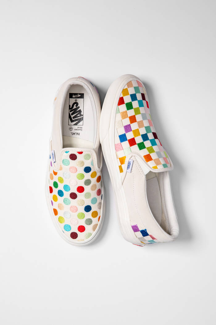 Damien Hirst's motifs are featured in a new Vault by Vans shoe line in a partnership with the P ...