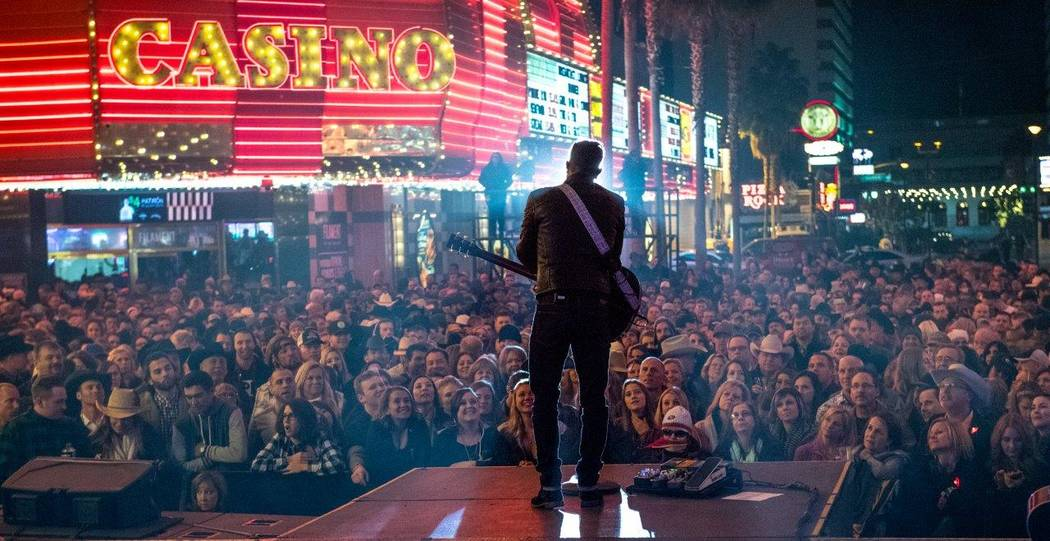 The 2016 Downtown Hoedown on Fremont Street on Wednesday, Nov. 30, 2016, in Downtown Las Vegas. ...