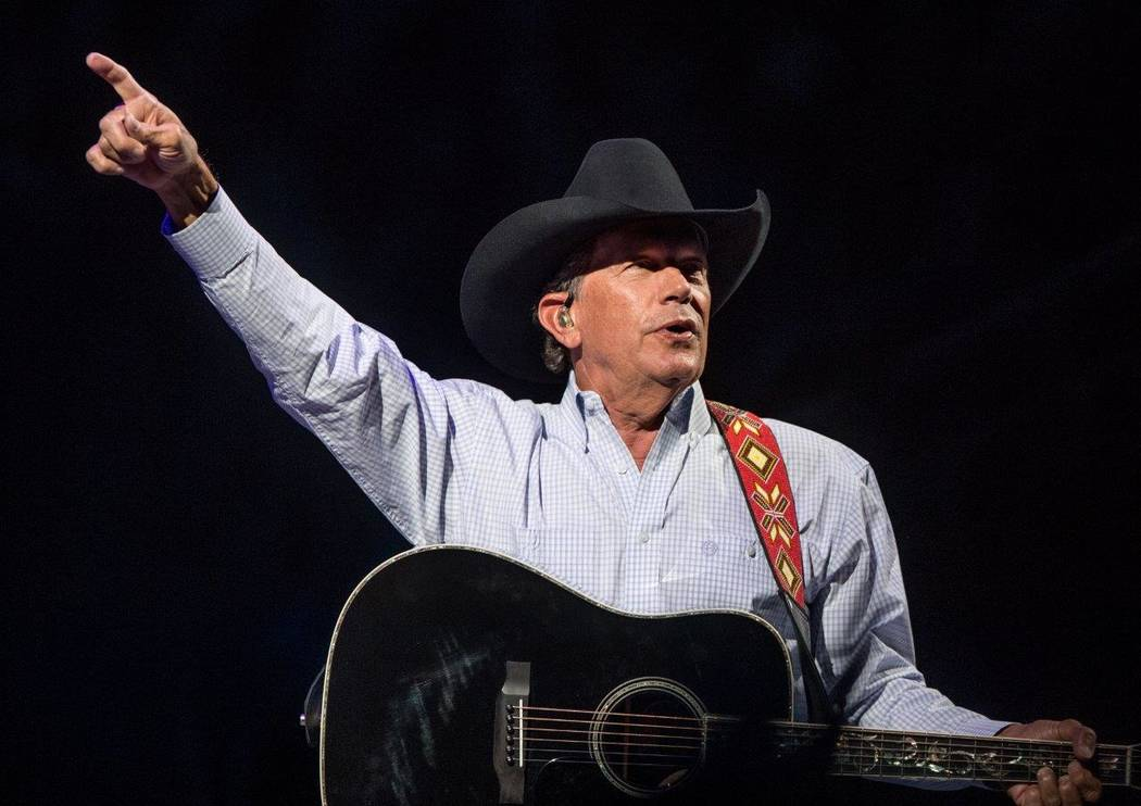 """George Strait headlines T-Mobile Arena with his hit residency """"Strait to Vegas"""" on Friday, Feb. ..."""