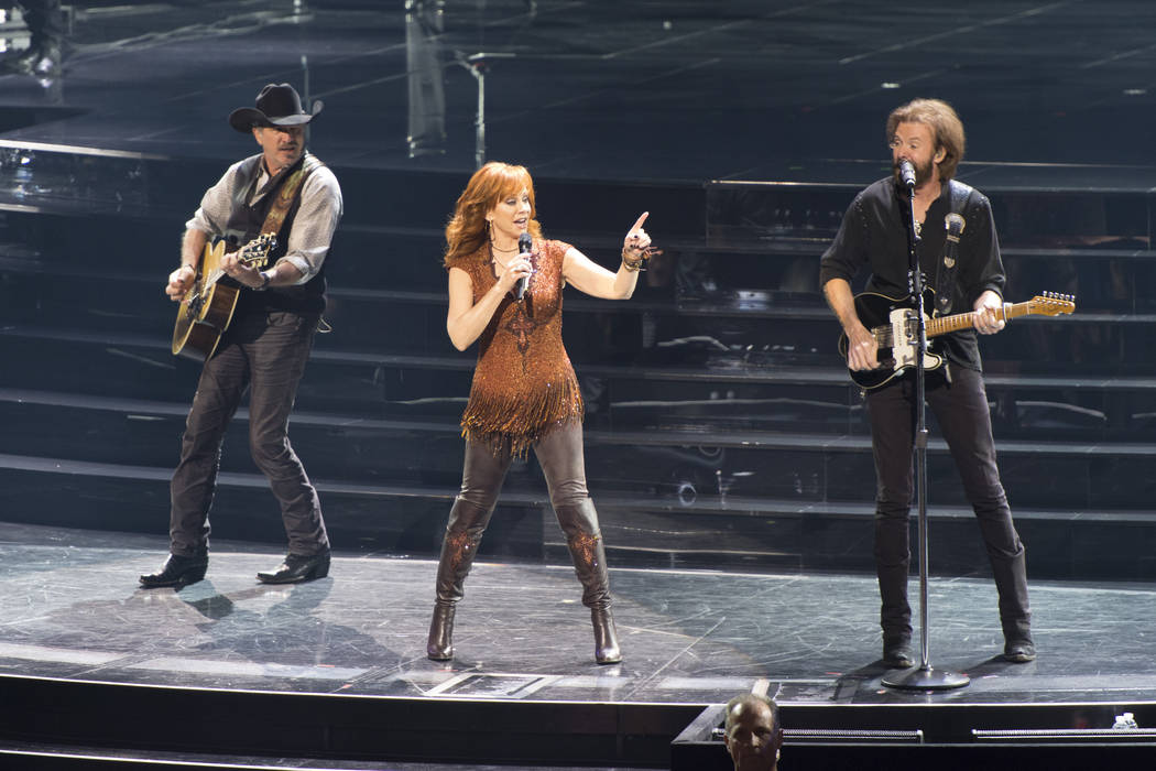 Reba McEntire and Brooks & Dunn perform at The Colosseum in Caesars Palace on Friday, June 19, ...