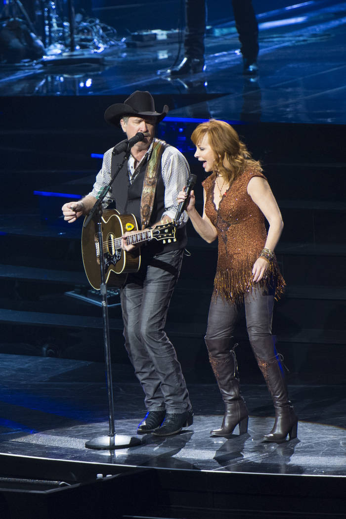 Reba McEntire and Brooks & Dunn perform together at The Colosseum at Caesars Palace in Las ...