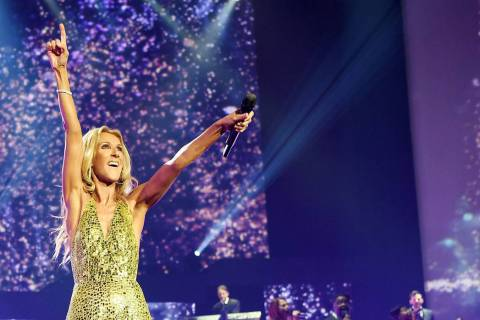 Celine Dion performs during the final show of her Las Vegas residency at The Colosseum at Caesa ...