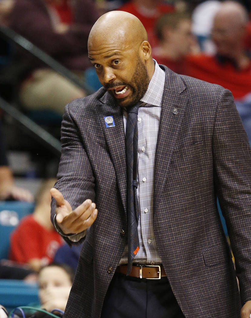 California coach Cuonzo Martin motions to his players during the first half of an NCAA college ...
