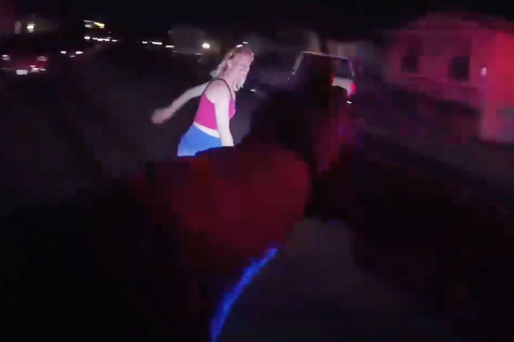 The screenshot from a video provided by Metropolitan Police Department shows Sommer Richards in ...