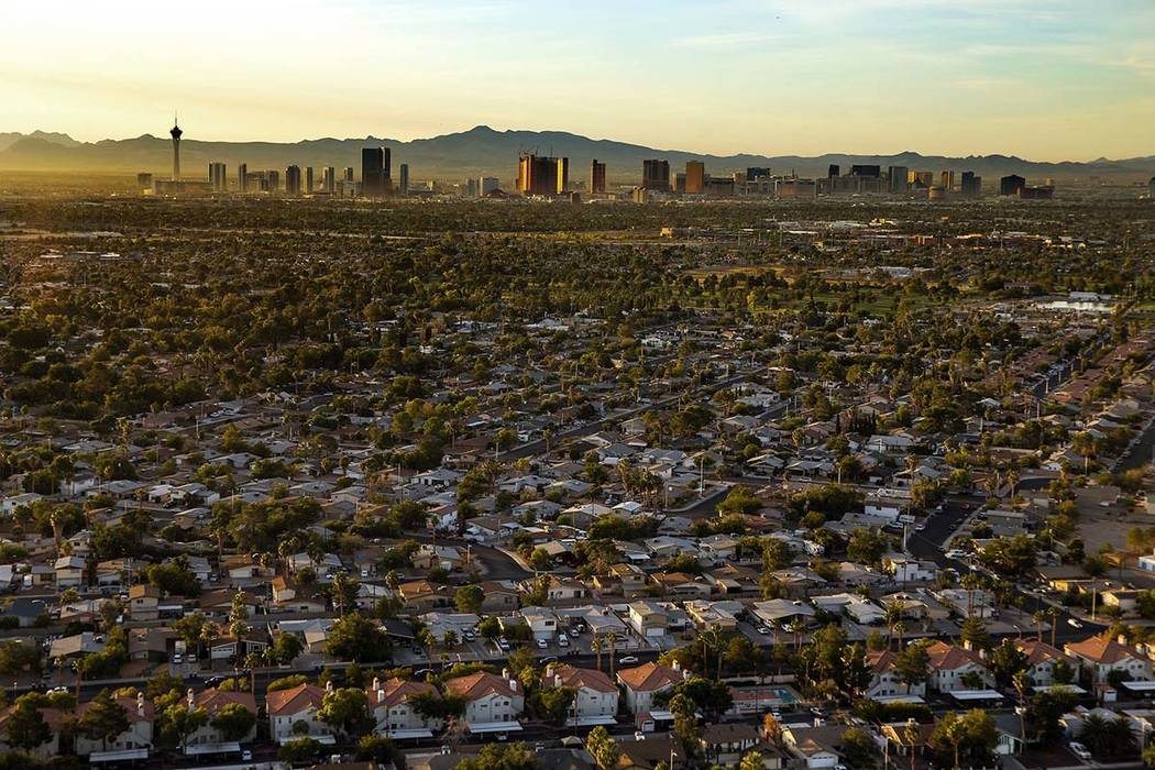 Home prices in Southern Nevada were up 2.9 percent year-over-year in September, below the natio ...