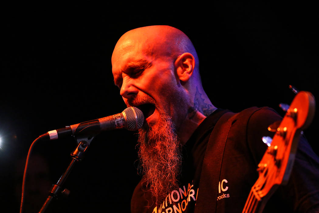 Nick Oliveri of The Dwarves performs during the 25th anniversary show at the Double Down Saloon ...