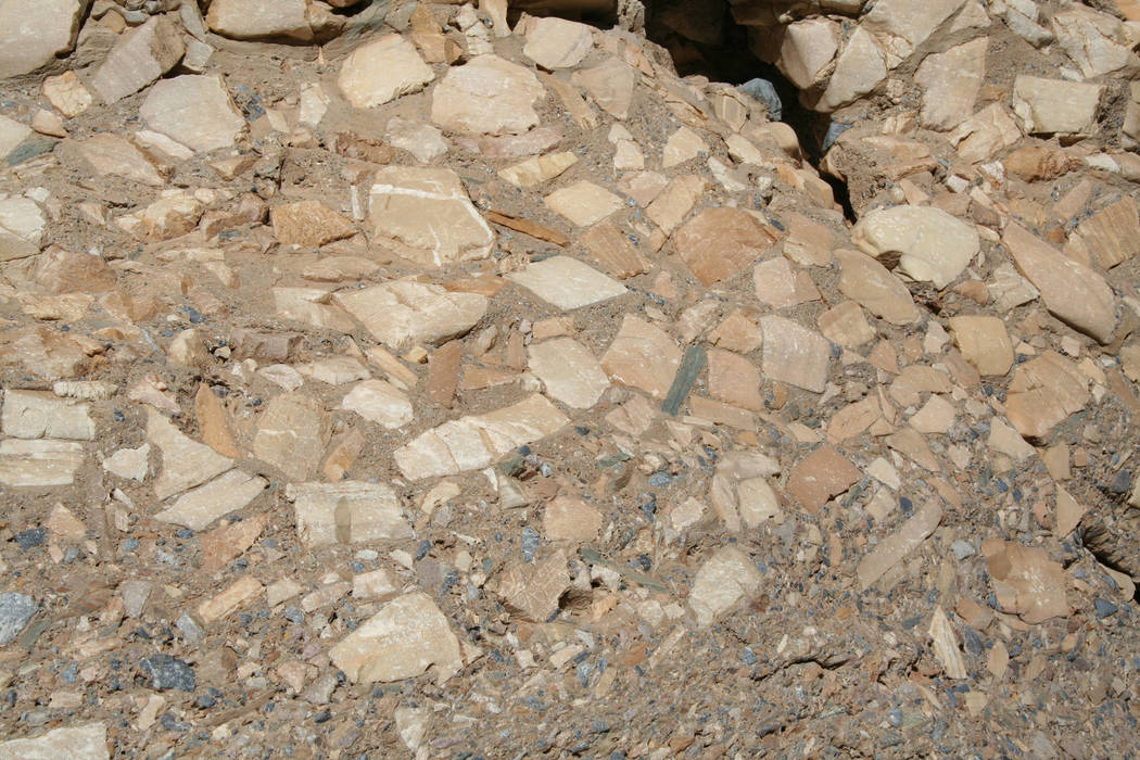 Interesting geologic features can be found in Mosaic Canyon, including the rock formations know ...