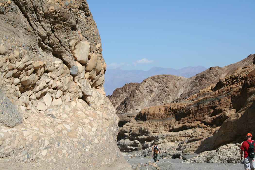 Mosaic Canyon in Death Valley National Park, Calif., is a great hiking choice for all ages and ...