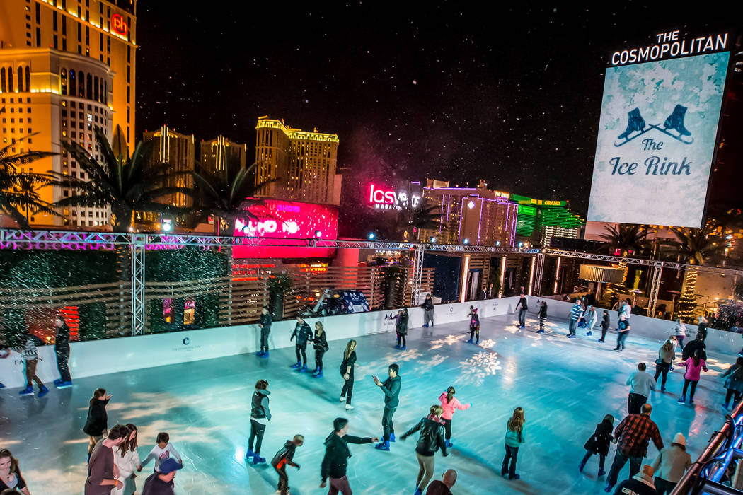 After gliding around the rink at the The Cosmopolitan of Las Vegas' Boulevard Pool, warm up at ...