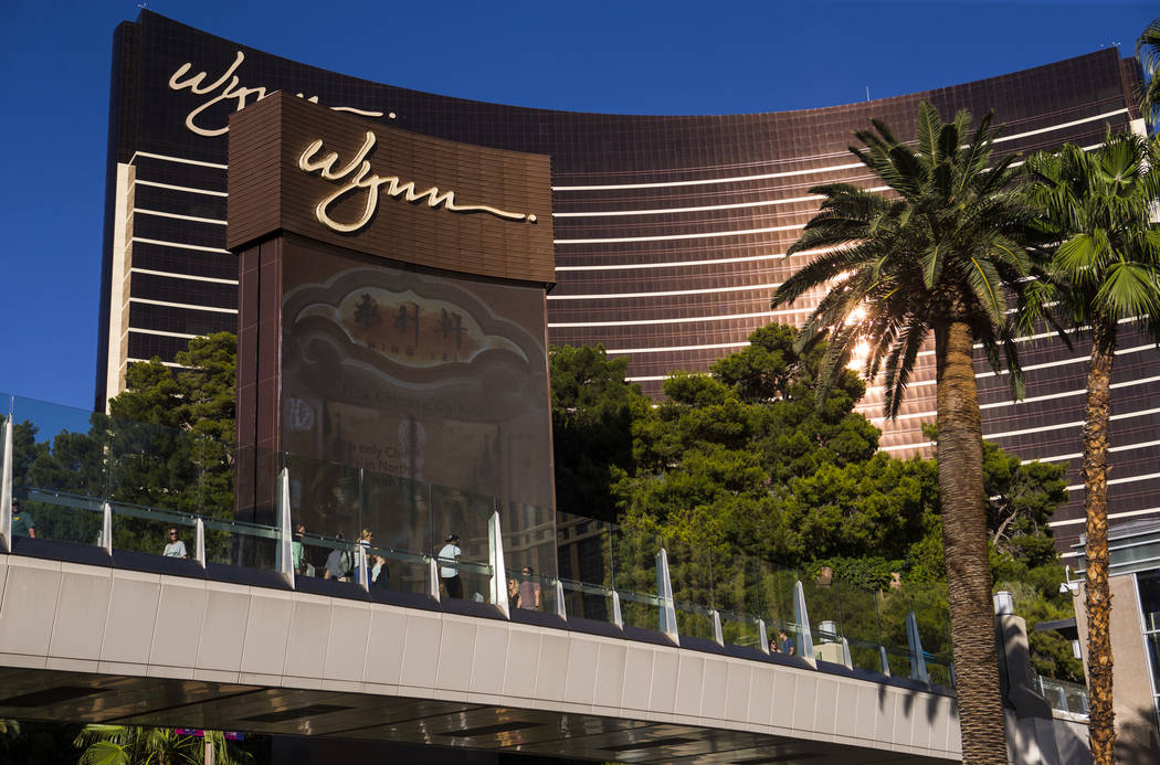 A view of Wynn Las Vegas in Las Vegas on Thursday, Aug. 15, 2019. (Chase Stevens/Las Vegas Revi ...