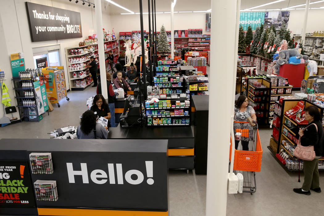 Big Lots is now open on the corner of Sahara Avenue and Decatur Boulevard in Las Vegas Friday, ...