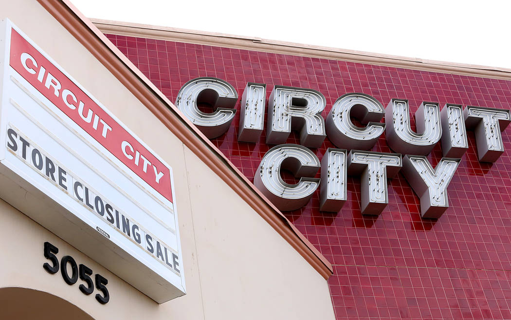 A closed Circuit City store at 5055 W. Sahara Ave. in Las Vegas is seen Tuesday, Feb 7, 2017. ( ...