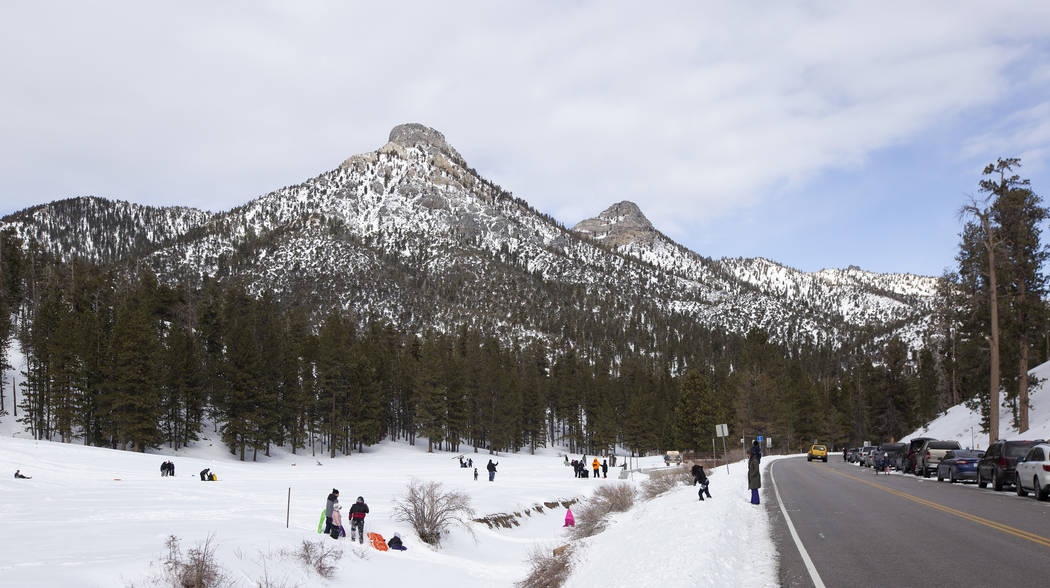 Upper Lee Meadows on Thursday, Nov. 28, 2019, in the Spring Mountain National Recreation Area i ...